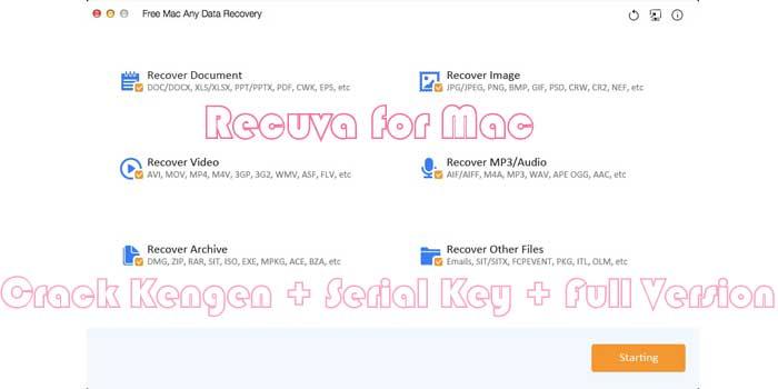 Piriform Recuva for Mac Crack Kengen + Serial Key + Full Version